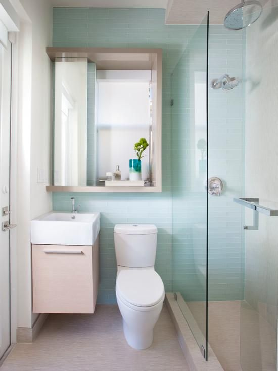 banheiro bancada cores claras box de vidro