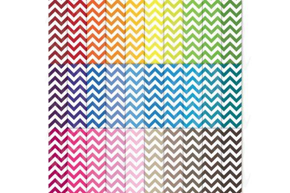 Check out 30 Rainbow Chevron Digital Paper by YenzArtHaut on Creative Market