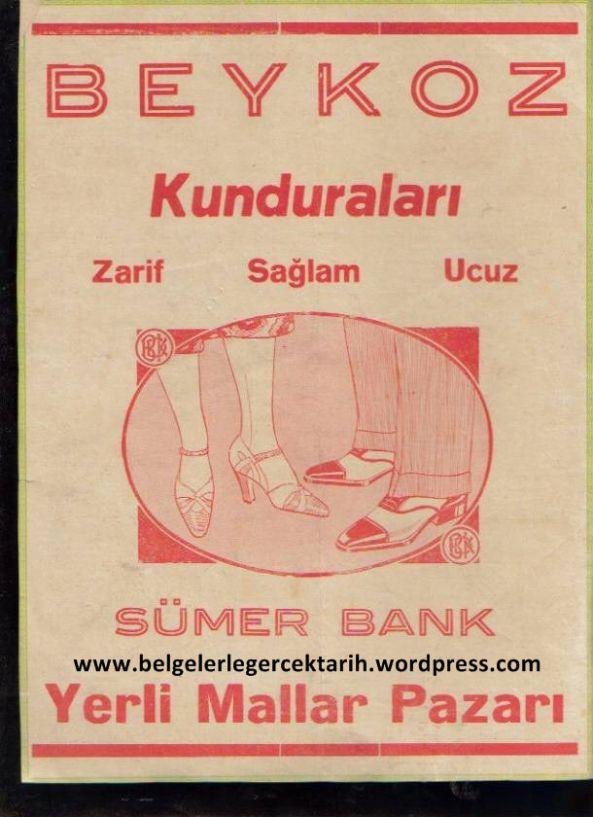 sümerbank beykoz kundurulari Osmanli fabrikasi reklam