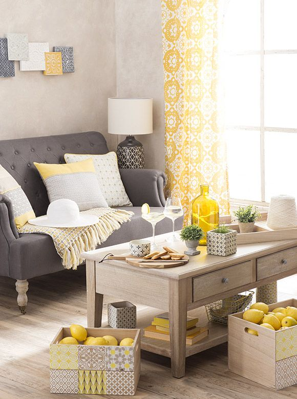les 19 meilleures images du tableau yellow summer maison du monde sur pinterest maison du. Black Bedroom Furniture Sets. Home Design Ideas