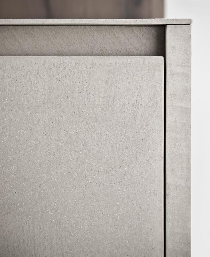 Zampieri - Line K #kitchen. A detail of cement resin finish.