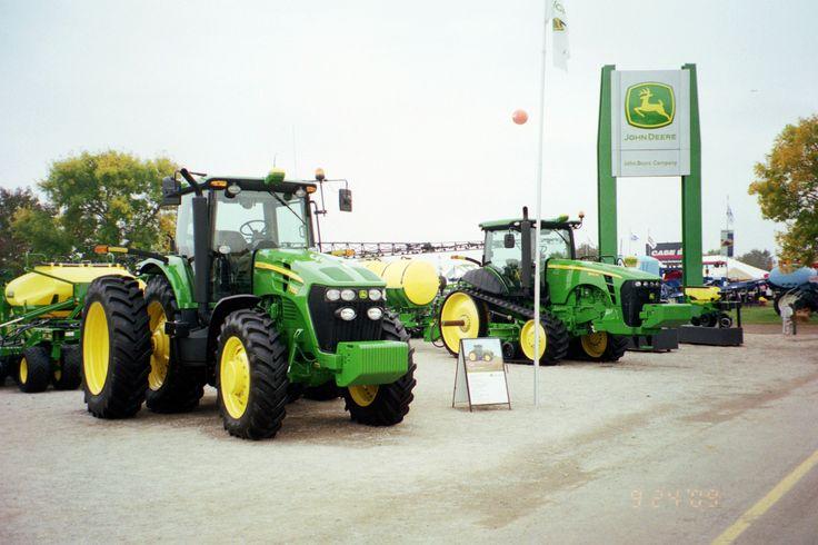 John Deere 7930 & new 8RT track tractor
