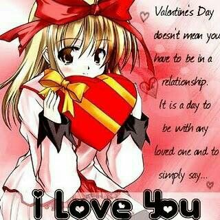 40 best anime valentine cards images on pinterest - Happy valentines day anime ...