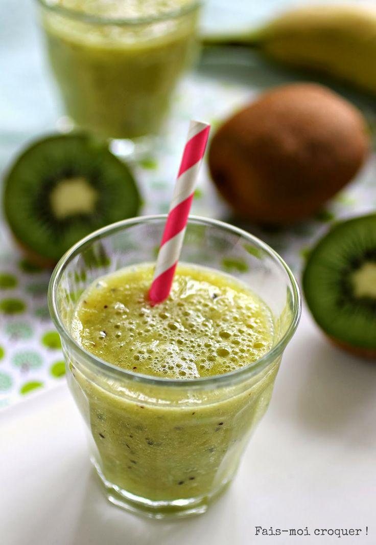 Fais-moi croquer !: Smoothie d'hiver détox & vitaminé {Un shot de kiwi, d'orange et de banane pour reprendre des forces}