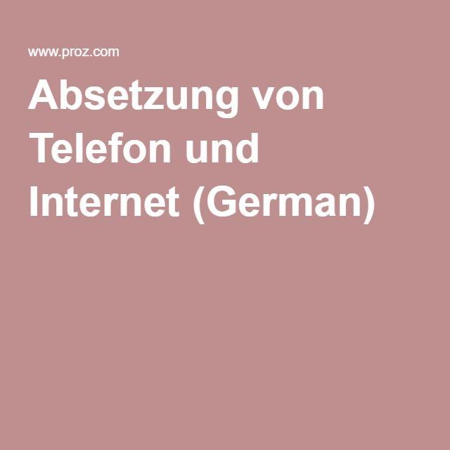 Absetzung von Telefon und Internet (German)