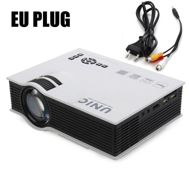 UNIC UC40 UC40+ Mini Pico portable 3D Projector HDMI VGA Home Theater beamer multimedia projector Full HD 1080P video Player