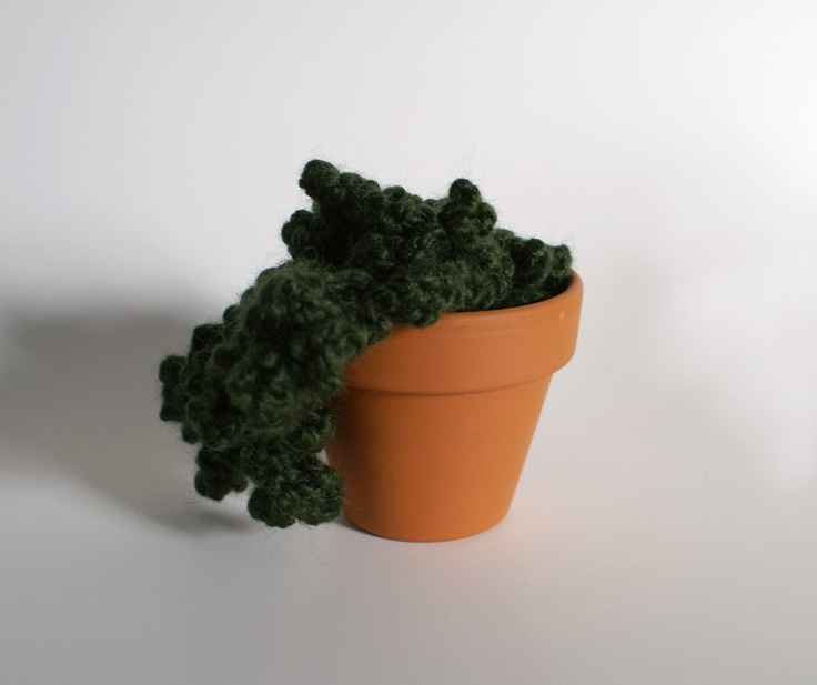 Knitted Plant with Overhanging Tendrils. $28.00, via Etsy.