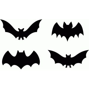 Silhouette Design Store: bat halloween set