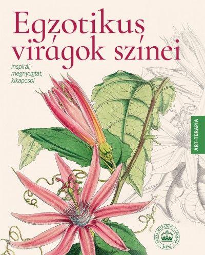Egzotikus virágok színei színezőkönyv