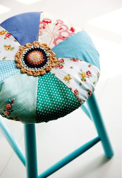 Inspiration: patchwork seat cover