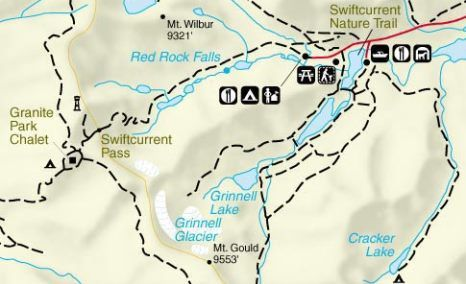Grinell Glacier Trail map