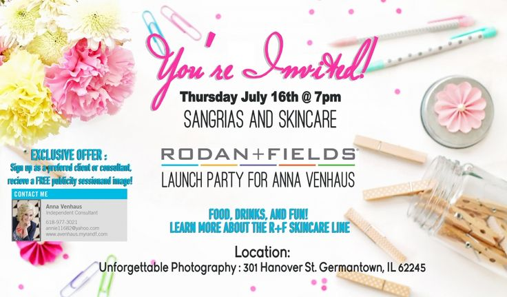 LAUNCH PARTY | rodan and fields | Pinterest | Sangria ...
