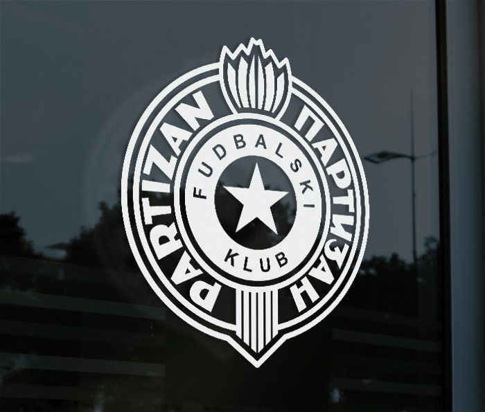 FK Partizan Belgrade SerbiaDecal Sticker