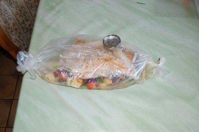 Rezept: Putenbrust im Bratschlauch mit Rosenkohl und Salzkartoffeln Bild Nr. 8