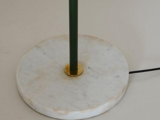 Vintage Design, Modernariato, Art Deco, Design del 900 - Officina Antiquaria Milano - Lampade - Da terra - SILUX, LAMPADA DA LETTURA VERDE OLIVA CON BASE IN MARMO, 1950ca.