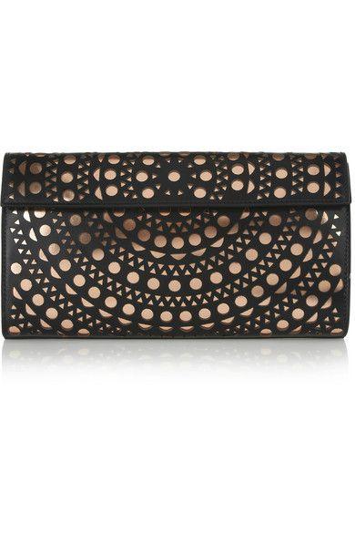 AlaÏa Laser Cut Leather Clutch Stylin Me Pinterest Bags And Alaia