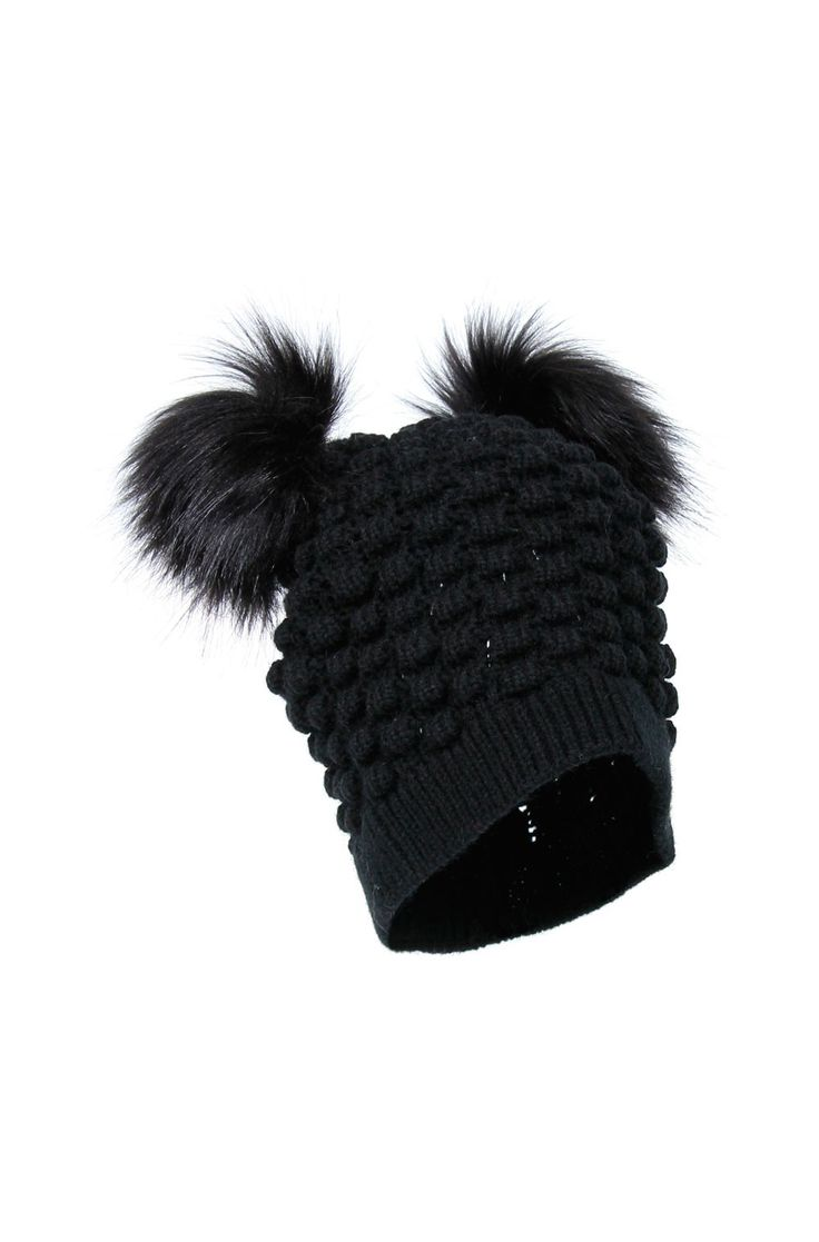 DOUBLE FAUX FUR BEANIE