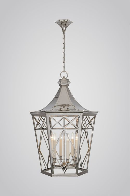 212B Jumbo Lattice lantern in Nickel  Charles Edwards