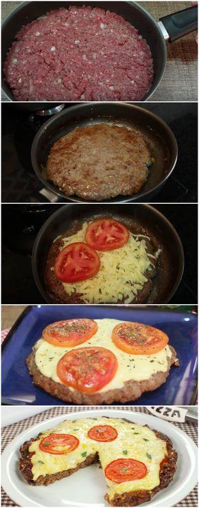 Pizza de Carne Moída | Tão fácil e tão deliciosa, dá vontade de comer todo dia! #pizza #pizzadecarnemoída