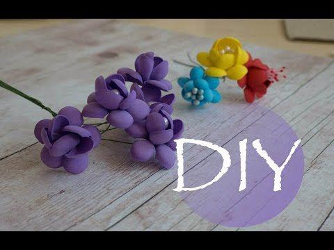 Маленькие цветочки из фоамирана /Small flowers of foamiran - YouTube