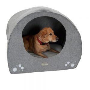 Cuccia Igloo per Cani #Cuccia #Igloo #Cani #Feltro #Grigio #Nicchia http://www.principini.it/prodotti/cani/cuccia-igloo-per-cani-2