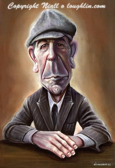 "Leonard Cohen - I thought you were a racing man, ah, but you couldn't take the pace. That's a funeral in the mirror and it's stopping at your face."" (Dress Rehearsel Rag)"
