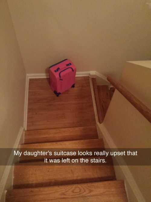 This heartbroken baggage. | 28 Snapchats That Will 100% Make You Smile