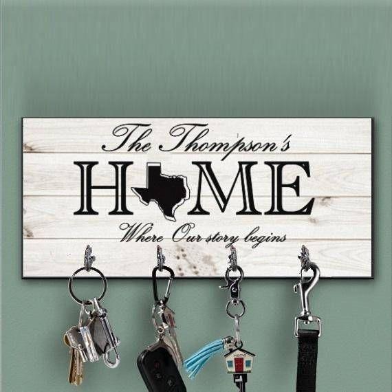 Key Hanger Personalized Key Ring Holder Wedding Gift Etsy Key Hanger Key Ring Holder Ring Holder Wedding