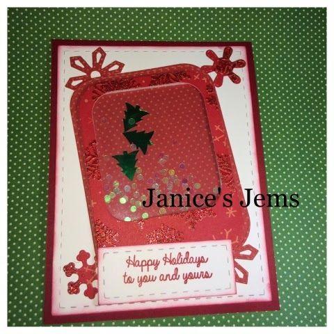 Janice's Jems: Shaker Christmas Cards #Jadedblossom