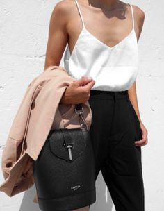 Silk, black + blush.