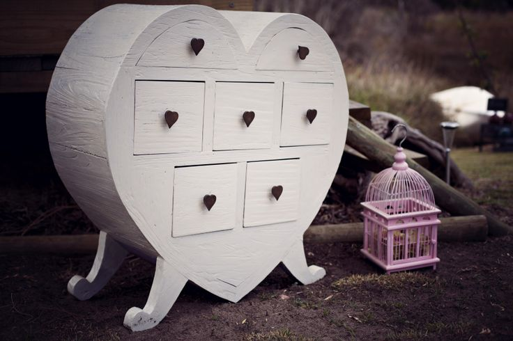 Large White Heart with 7 small draws www.capeoflove.com