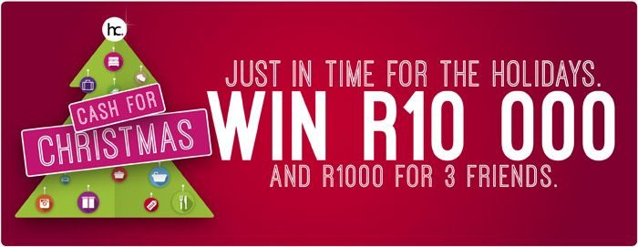 Win R10000 In Cash For Christmas | Ends 30 November 2015