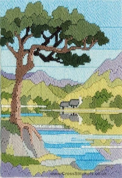 Mountain Summer Long Stitch Kit from Derwentwater Designs