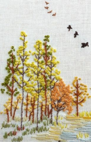 Autumn Embroidery Scene