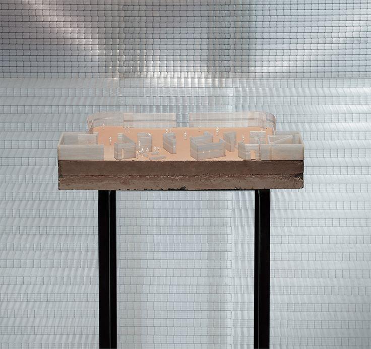 CIVIC architects - Flemish Nederlands Pavilion - Frankfurt   Model