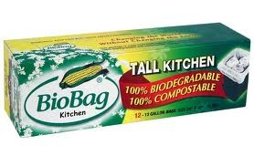 Compostable trashbags. Out of all I have  tried, these are the best. http://www.biobagusa.com/