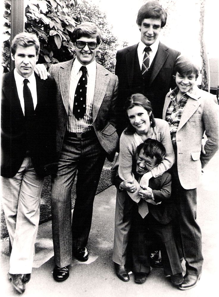 Harrison Ford David Prowse Carrie Fisher Peter Mayhew Mark Hamill And Kenny