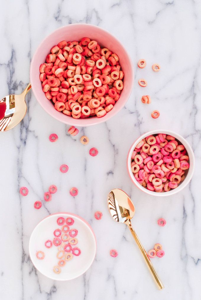 DIY Pink & Red Cheerios