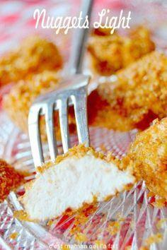 Voici des nuggets de poulet sans friture qui offrent une viande avec une délicieuse texture fondante, et le plaisir de vrais morceaux de poulet bien moelleux et du croustillant sans le gras