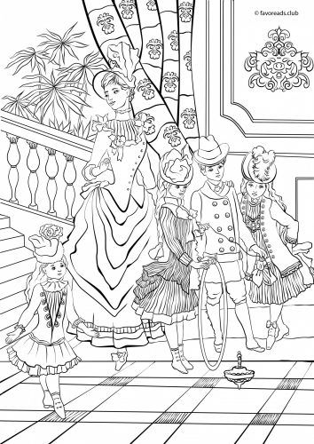 448 best Coloring pages mode people images on Pinterest