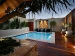 pools image: decorative lighting, waterfall - 300972