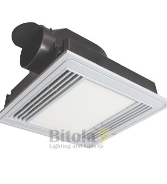 Tercel LED Exhaust Fan and 13w Light Square White Brilliant 18192/05