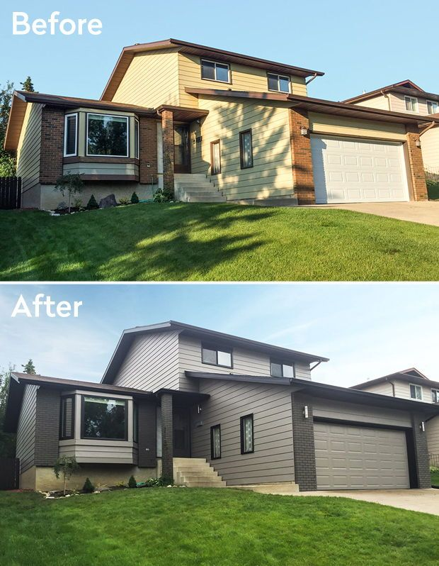 Before After Quick Curb Appeal Makeovers House Exterior Exterior House Colors Brick Exterior House