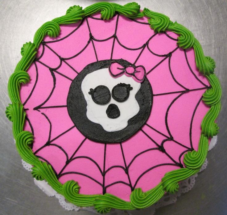 Girly Skull & Spider Web cake #icingonthecakelosgatos