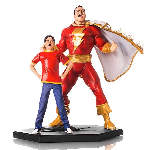 Estátua Shazam Deluxe Art Scale 1/10 DC Comics Serie 2 - 19,5 cm - Iron Studios   Comic Store Brasil