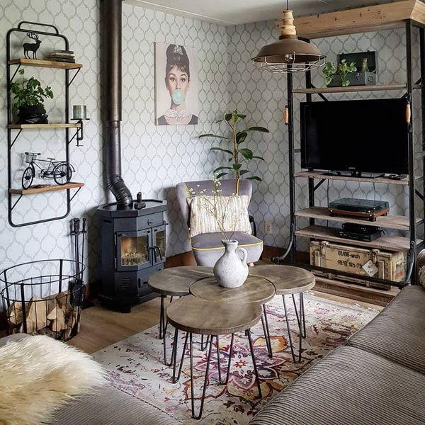 Una Casa Con Estilo Vintage Industrial Casas De Instagram Estilo Industrial Decoracion Decoracion Industrial Vintage Muebles Estilo Industrial