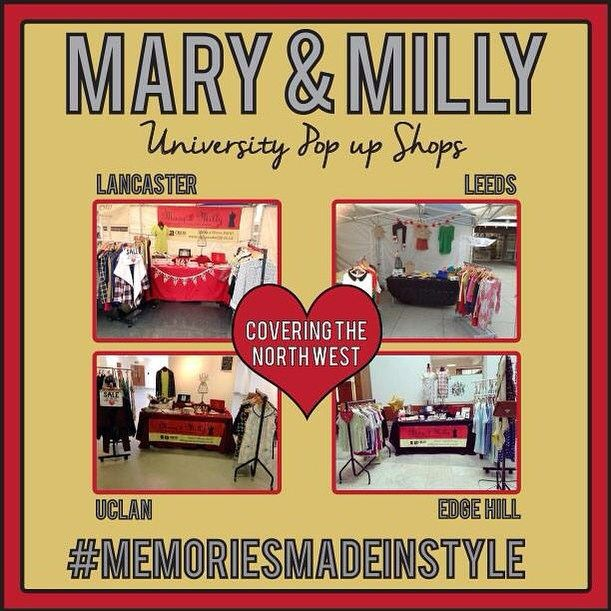 Did you know Mary & Milly launched in 2011 with a pop up shop at UCLan before also selling at Edge Hill, Lancaster & Leeds! Travelling around in the red Mary & Milly van! Who's shopped with us at these places?! ❤️