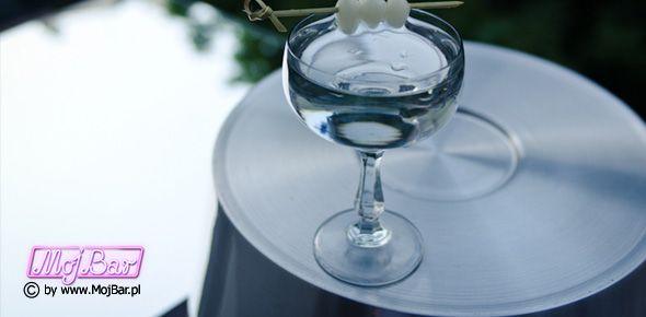 GIBSON Może nie dla każdego ale trzeba spróbować:  gin - 60ml, wermut wytrawny - 10ml  Przepisy na drinki znajdziesz na: http://mojbar.pl/przepisy.htm