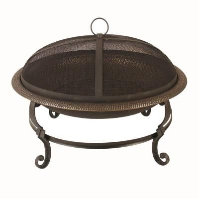 29 in. Casting Leg Steel Fire Pit in Aged Copper-DS-10002 - The Home Depot