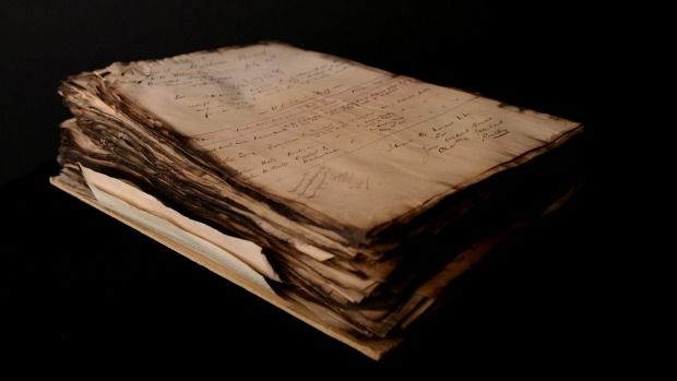 Charred government records damaged in the Hope Gibbons fire are still held by Archives New Zealand, but countless ...